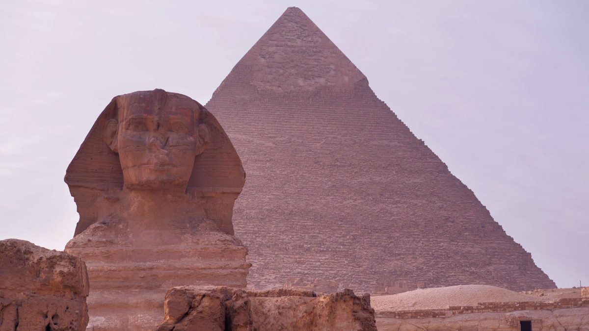 The Sphinx and the Great Pyramid of Giza